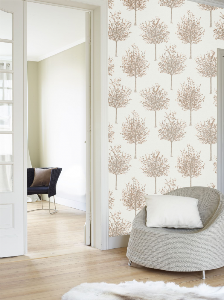 Grandeco Bloomsbury Trees Copper NG2101 Wallpaper